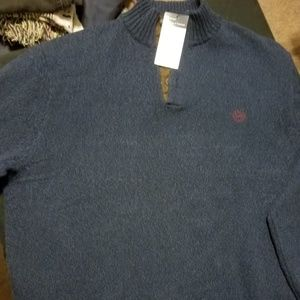 Chaps 3 button sweater